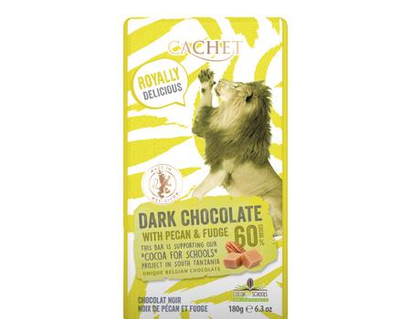 Chocolat noir 60% cacao au noix de pécan et caramel