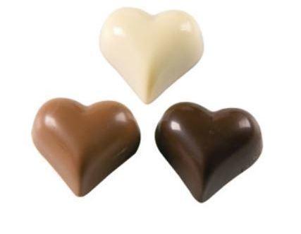 Coeurs fondant, laits ou blanc au choix