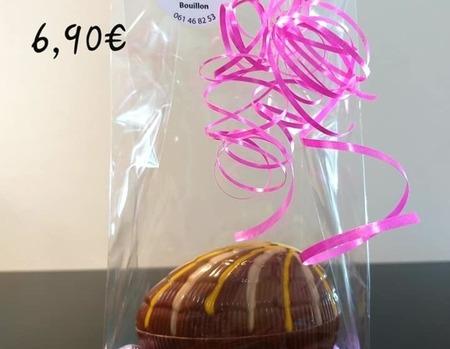 Oeufs chocolat garni 6.90€