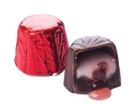 Sachet chocolat crème cerise avec cerise