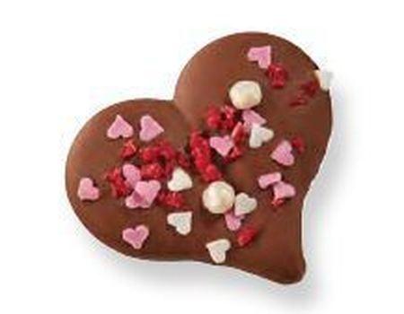 Coeur avec confetti
