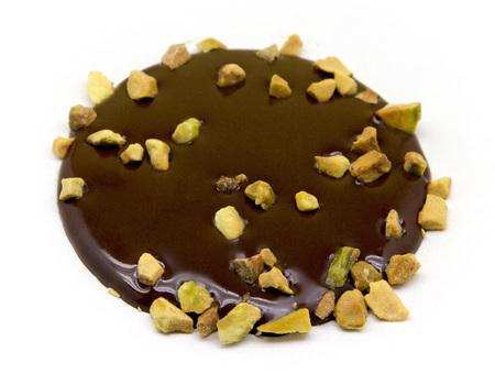 Tuiles chocolat noir avec pistaches
