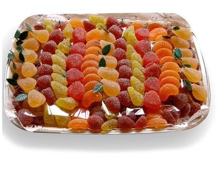 Pâte de fruits forme de fruits