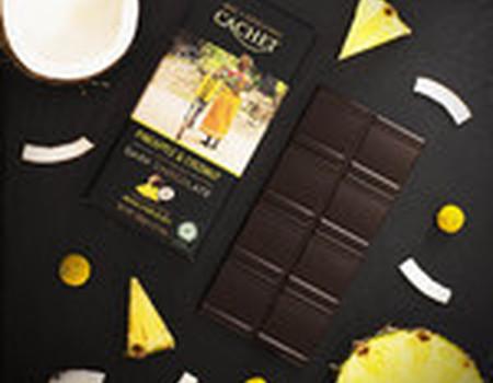 Chocolat noir ananas et noix de coco - bio
