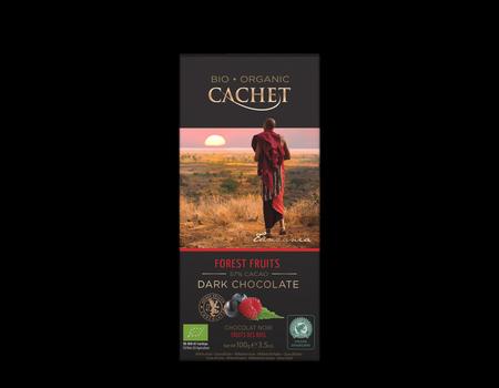 Chocolat noir 57% fabriqué avec du cacao de Tanzanie aux fruits des bois.