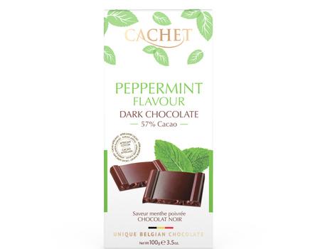 Chocolat noir à la menthe poivrée.