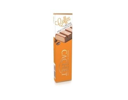 Chocolat au lait fourré au café doux (51%)