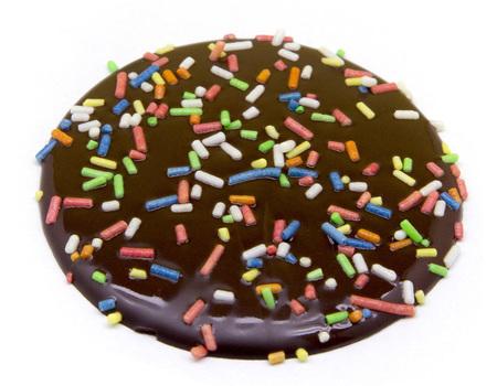 Tuiles chocolat noir blanc lait avec confettis